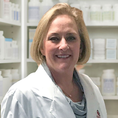 Pharmacist Kristine Isaacson from K & K Pharmacy